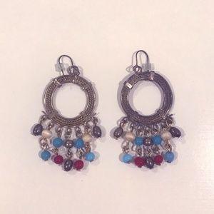 World Market Beaded Hoop Earrings
